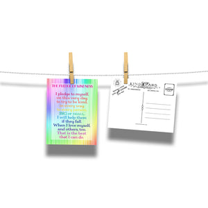 The Pledge of Kindness To Help Others Rainbow Postcard 20-Card Pack Classroom Resource Kind Card