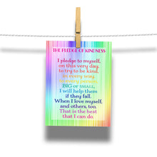 Load image into Gallery viewer, The Pledge of Kindness To Help Others Rainbow Postcard 20-Card Pack Classroom Resource Kind Card