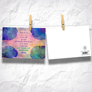 "Grant Me Serenity Funny 5"" x 7"" Oversized Postcard with Kraft Envelopes"
