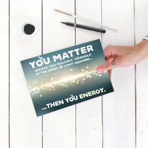 "You Matter Nerdy 5"" x 7"" Oversized Postcard with Kraft Envelopes"