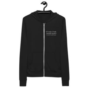 Checked Myself Unisex Zip Hoodie