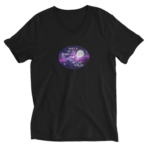Turn Your Magic On Oval Unisex Short Sleeve V-Neck T-Shirt