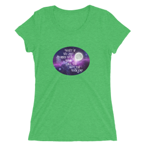 Turn Your Magic On Oval Ladies' Short Sleeve T-Shirt
