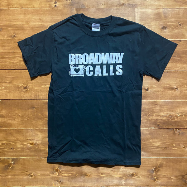 Broadway Calls - Oregon Logo - Double Sided - Black Shirt
