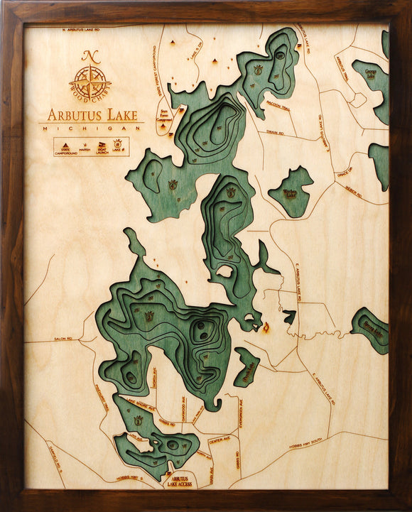 Wood Chart | Arbutus Lake | Traverse City | Michigan