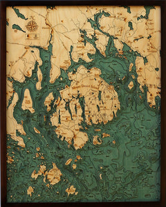 Wood Map | Bar Harbor | Mount Desert Island