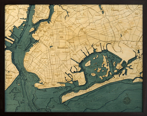 Brooklyn | New York Wood Chart