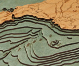 Wooden Map | Catalina Island | California