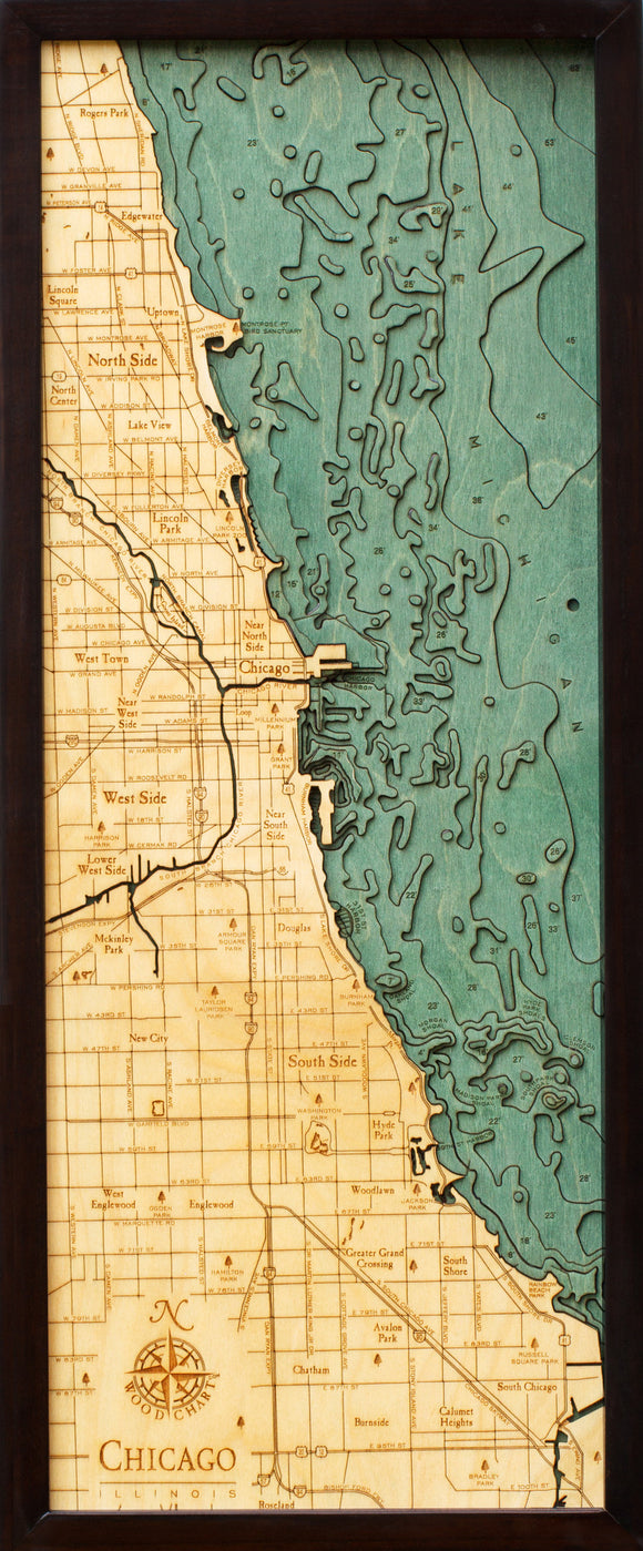 Chicago | Illinois | Wood Chart