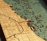 Chicago | Illinois | Wood Map