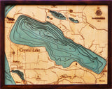 Wood Map | Crystal Lake | Michigan