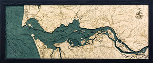 Columbia River Mouth, Oregon Wood Chart | Wood Map