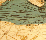 Delaware Bay | Wooden Map