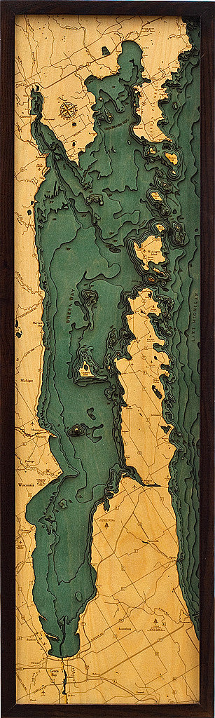 Wood Map | Door County | Wisconsin