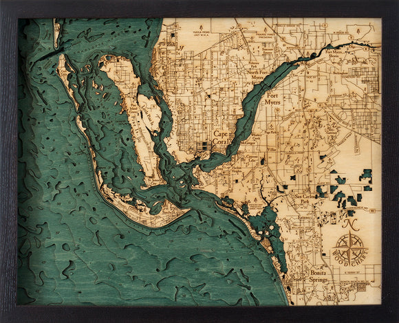 Fort Myers Florida Wood Chart | Wood Map