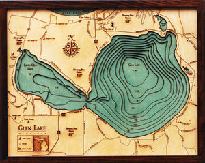 Wood Map | Glen Lake | Michigan