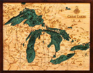 Wood Map | The Great Lakes | Michigan