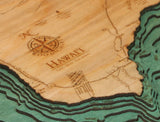 Wood Map | The Big Island, Hawaii