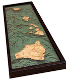 Hawaiian Islands | Wood Map