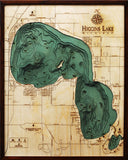 Wood Map | Higgins Lake | Michigan