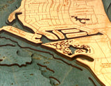 Wood Map | Key Biscayne | Florida