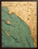 Los Angeles | San Diego | Wood Chart