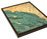 Los Angeles | San Diego | Wood Map