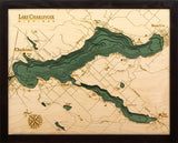 Lake Charlevoix Wood Chart