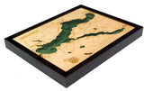 Lake Charlevoix, Michigan Wood Map