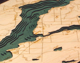 Lake Charlevoix, Michigan Wood Chart