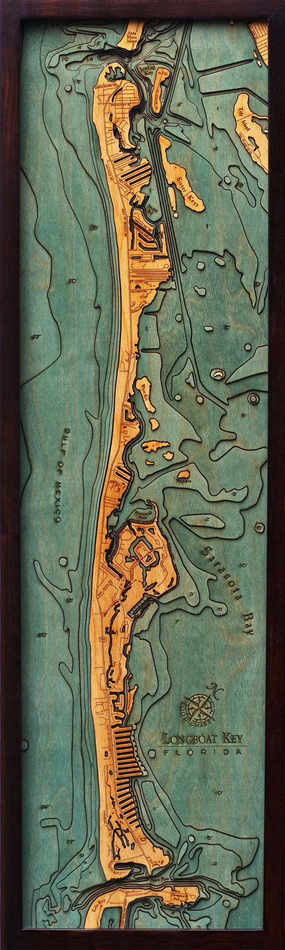 Wood Map | Longboat Key | Florida