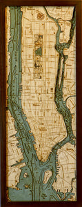 Manhattan | Long Island | New York | Wood Chart