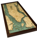 Manhattan | Long Island | New York | Wood Map