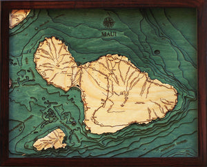 Wood Map | Maui, Hawaii