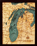 Wood Map | Lake Michigan | Wisconsin | Illinois