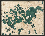 Lake Minnetonka, Minnesota Wood Chart | Wood Map