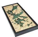 Moosehead Lake, Maine Wood Chart | Wood Map