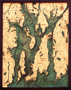 Wood Map | Narragansett | Newport, Rhode Island