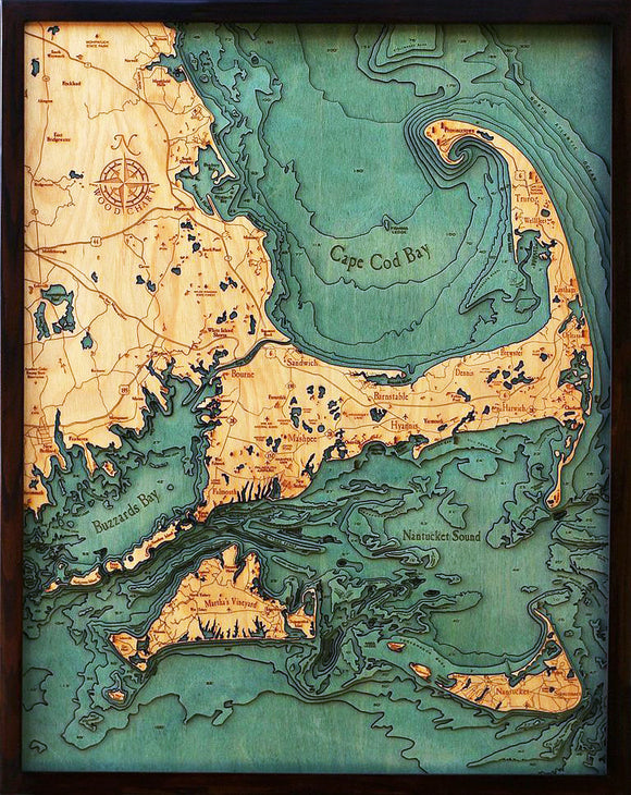 Wood Chart |  Cape Cod | Nantucket | Marthas Vineyard