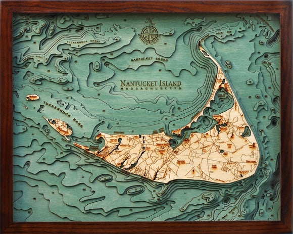 Wooden Map | Nantucket