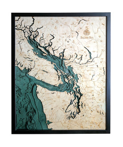 Salish Sea | Washington | Wood Chart