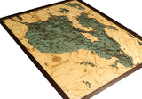 Sebago Lake | Maine | Wood Map