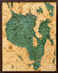Sebago Lake | Maine | Wood Chart
