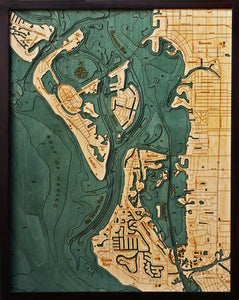 Wood Map | Siesta Key | Sarasota | Florida