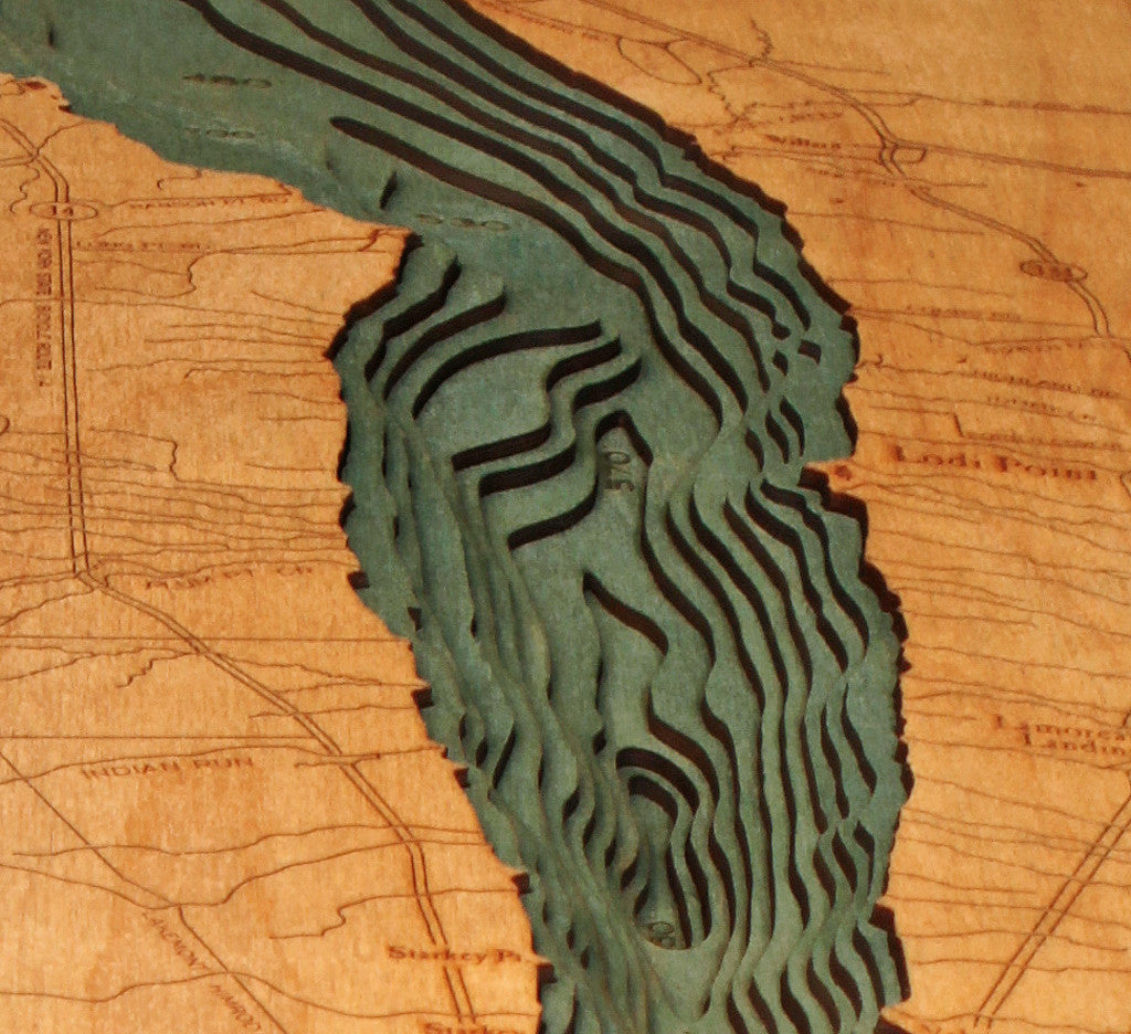 Seneca Lake New York Nautical Wood Chart Wooden Map