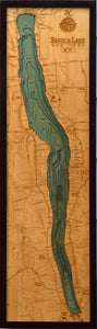 Wood Map | Seneca Lake | New York
