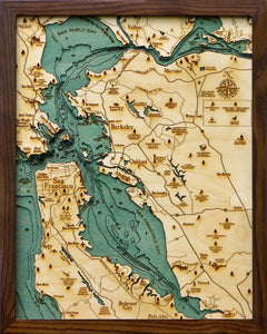 Wood Map | San Francisco Bay | California