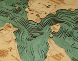 Straits of Mackinac | Wood Chart