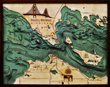 Straits of Mackinac | Wood Map
