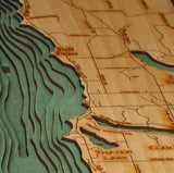 Torch Lake | Wooden Chart